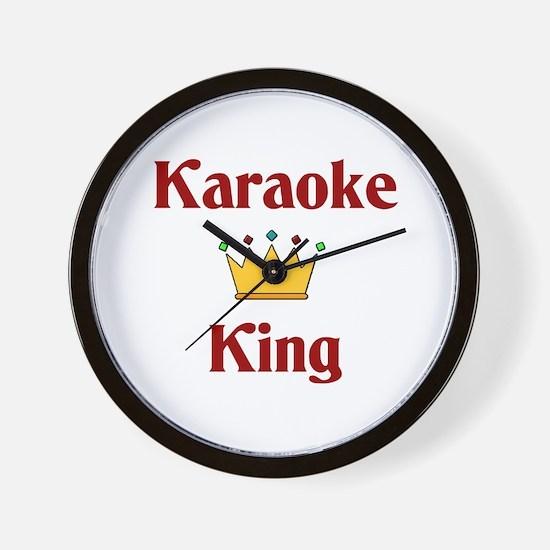 Karaoke King Wall Clock