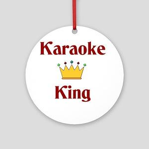 Karaoke King Ornament (Round)