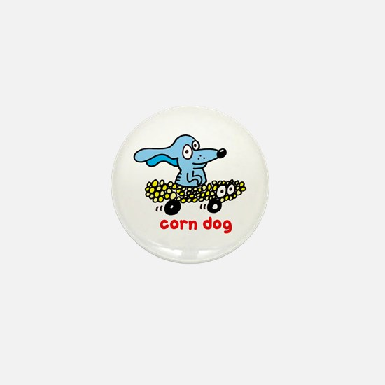 Corn dog on wheels Mini Button