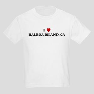 I Love BALBOA ISLAND Kids T-Shirt