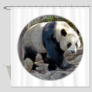 Panda Strut Shower Curtain