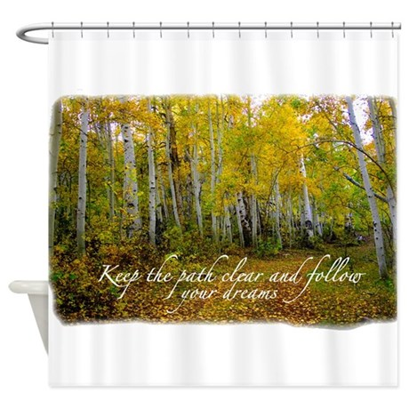Affirmations Shower Curtain