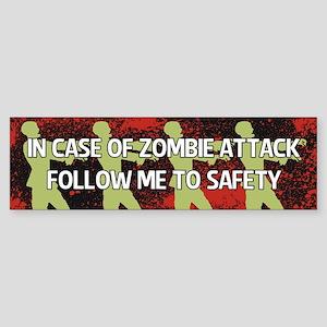 Zombie Attack Sticker (Bumper)