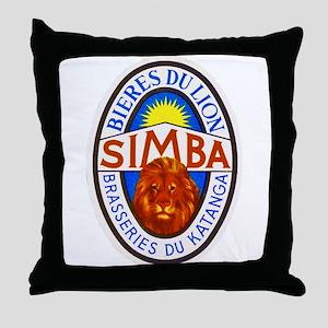 Congo Beer Label 4 Throw Pillow