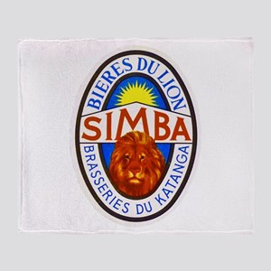 Congo Beer Label 4 Throw Blanket