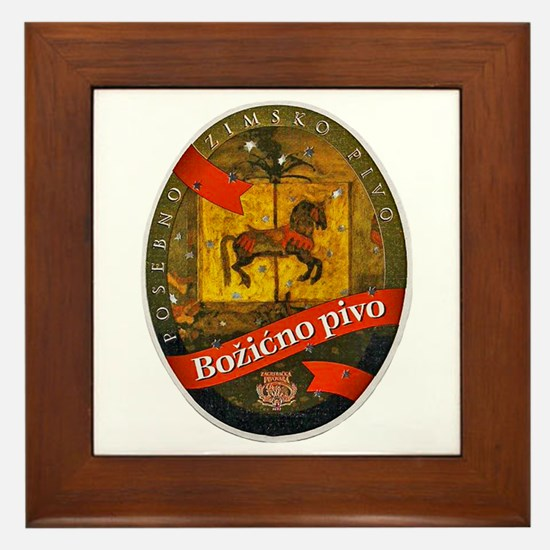 Croatia Beer Label 2 Framed Tile