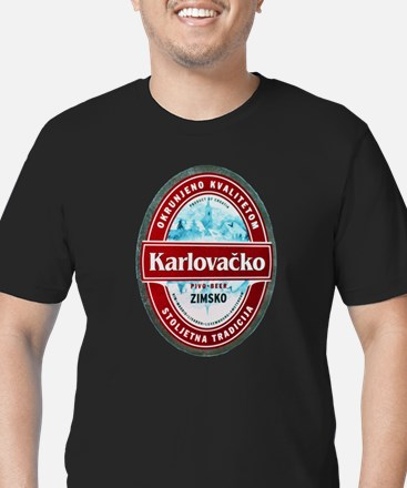 Croatia Beer Label 1 Men's Fitted T-Shirt (dark)
