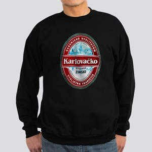 Croatia Beer Label 1 Sweatshirt (dark)