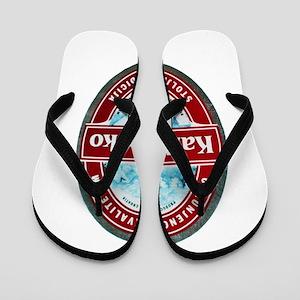 Croatia Beer Label 1 Flip Flops