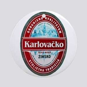 Croatia Beer Label 1 Ornament (Round)