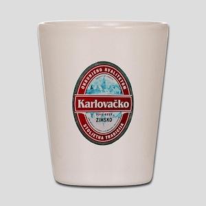 Croatia Beer Label 1 Shot Glass