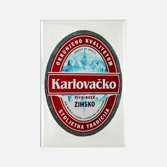 Croatia Beer Label 1 Rectangle Magnet