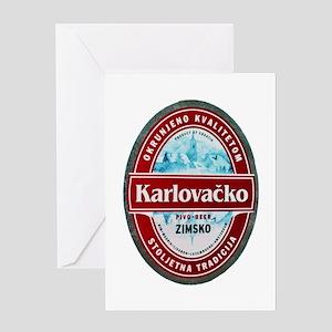 Croatia Beer Label 1 Greeting Card