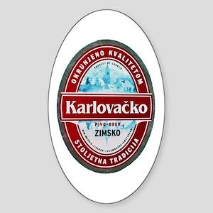 Croatia Beer Label 1 Sticker (Oval)