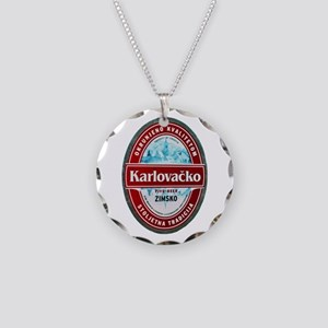 Croatia Beer Label 1 Necklace Circle Charm