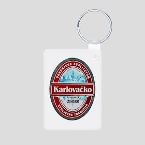 Croatia Beer Label 1 Aluminum Photo Keychain