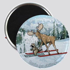 Lets go skiing! Magnet