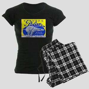 Cuba Beer Label 2 Women's Dark Pajamas