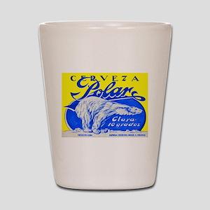 Cuba Beer Label 2 Shot Glass