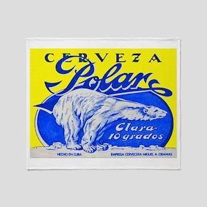 Cuba Beer Label 2 Throw Blanket