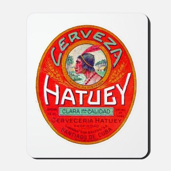Cuba Beer Label 1 Mousepad