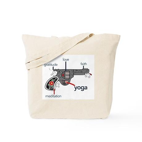 The Yoga Gun Tote Bag