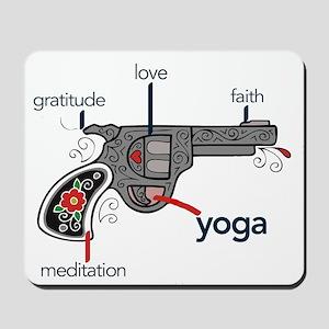 The Yoga Gun Mousepad