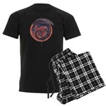 Black Dragon Men's Dark Pajamas