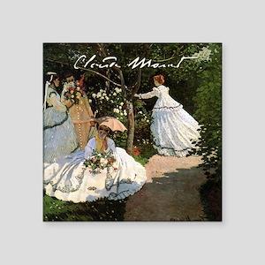 "Claude Monet Women In The Garden Square Sticker 3"""