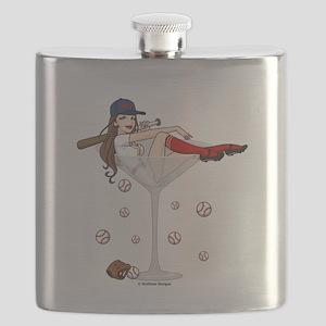 Baseball Boston Girl Flask