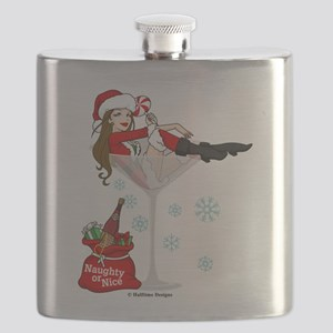 santa girl martini brown Flask