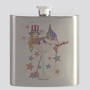 4th of July Martini Flask
