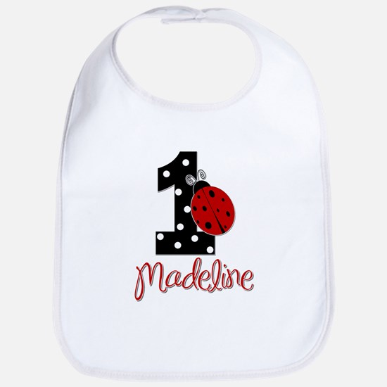 Madeline - 1 - LadyBug - CUSTOM Bib