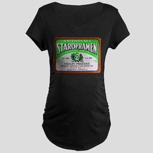 Czech Beer Label 11 Maternity Dark T-Shirt
