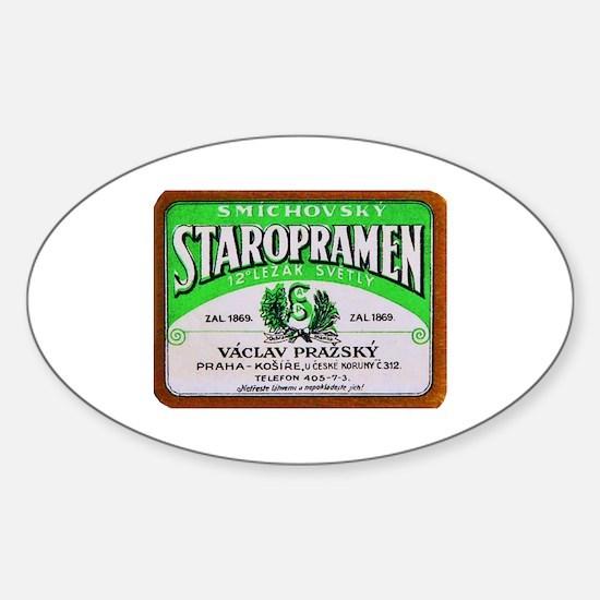 Czech Beer Label 11 Sticker (Oval)