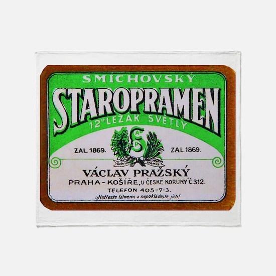 Czech Beer Label 11 Throw Blanket
