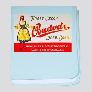 Czech Beer Label 8 baby blanket