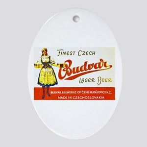 Czech Beer Label 8 Ornament (Oval)