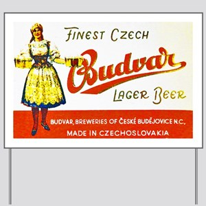 Czech Beer Label 8 Yard Sign