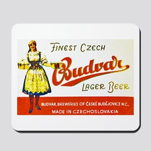 Czech Beer Label 8 Mousepad