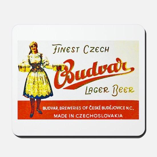 Czech Beer Label 8 Mousepad