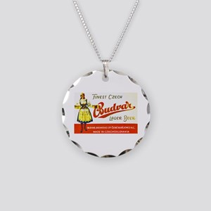 Czech Beer Label 8 Necklace Circle Charm