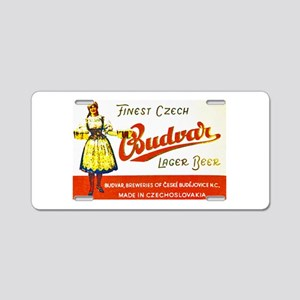 Czech Beer Label 8 Aluminum License Plate