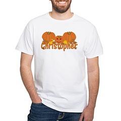 Halloween Pumpkin Christopher White T-Shirt