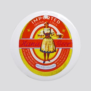 Czech Beer Label 6 Ornament (Round)