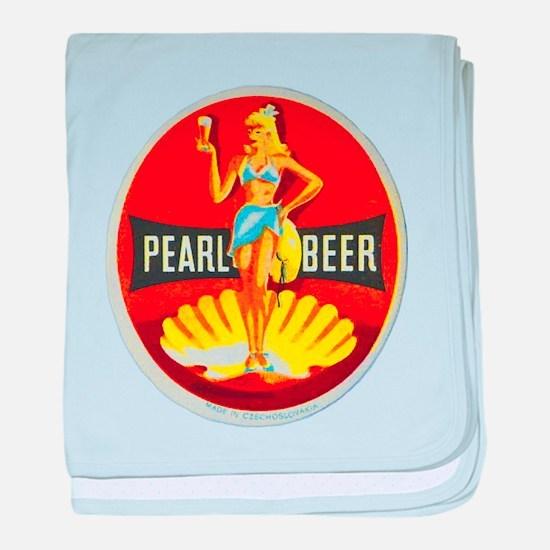 Czech Beer Label 5 baby blanket