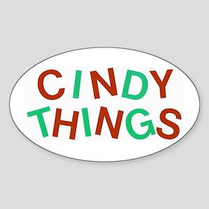 Fun Logo (red/green) Oval Sticker
