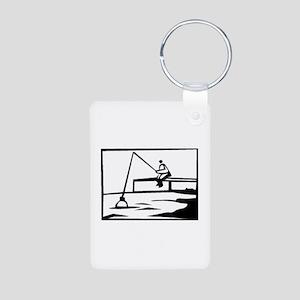 Fishing Aluminum Photo Keychain
