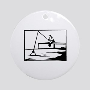 Fishing Ornament (Round)