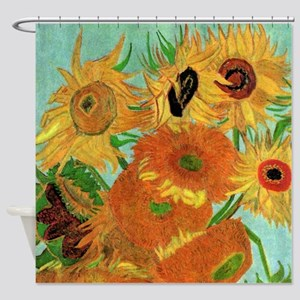 Van Gogh Twelve Sunflowers Shower Curtain